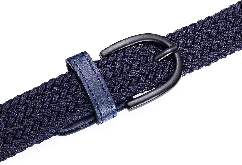 PU Loop-Endspitze 2,5 cm breit Junior geflochtene elastische Stretchg/ürtel 5 Gr/ö/ßen 5 Farben Dornschnalle Jungen M/ädchen