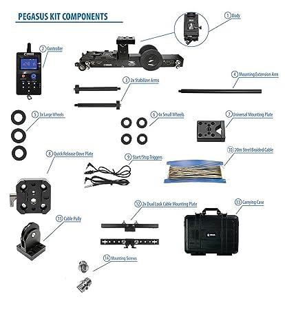 Amazon com: CINEGEARS Pegasus Wireless Cablecam Kit: MP3