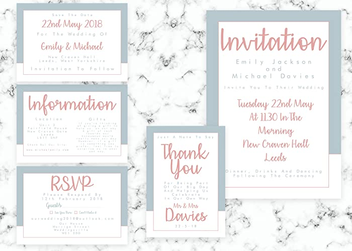 Wedding Invitations Personalised Wedding Invitations