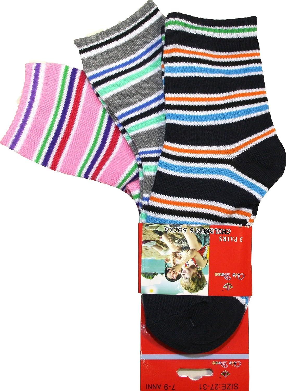 12 pares de calcetines para niños, niñas, de algodón, multicolor, 1-3 año (17-21), 4-6 año (22-26), 7-9 año (27-31), 10-12 año (32-36).