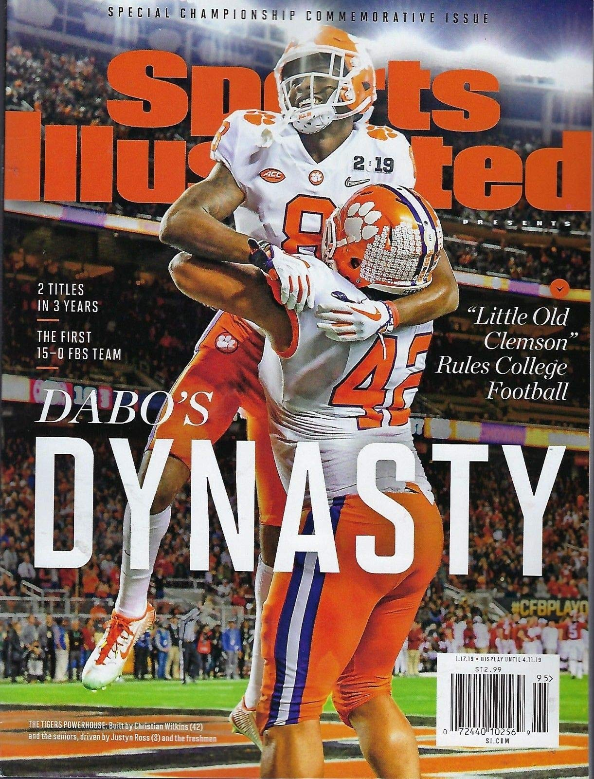 Clemson Sports Illustrated 2019 Special Championship Commemorative Issue Clemson Wins College Football Playoffs 2018 2019 National Champions Dabos Dynasty Lawrence Ross Wilkins Sports Illustrated Amazon Com Books