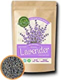 Lavender Flowers   4 oz Reseable Bag,Bulk   Dried Culinary Lavender Buds, Herbal Tea   Relaxing,Sleep Well   Aromatherapy, Crafts Potpourri,Home Fragrance by Eat Well Premium Foods