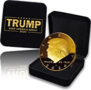 Donald Trump Coin 2020 with Gift Box - Gold Plated Collectible Coin, Protective Case (Donald Trump Coin with Gift-Box)