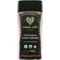 Amor Café Signature Café Soluble Liofilizado Orgánico de Chiapas, Suave y Acaramelado, 100 g