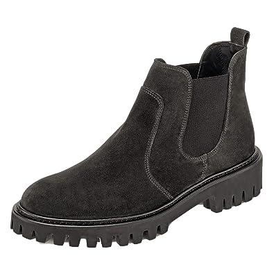 sale retailer 45e6c b4128 Paul Green 9363-093 Damen Sportiver Chelsea Boots aus ...