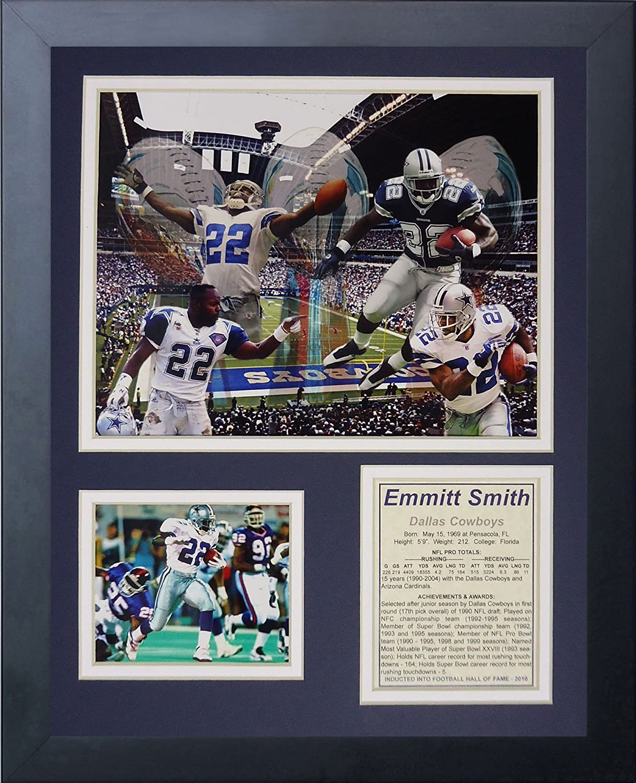 Legends Never Die Emmitt Smith Framed Photo Collage, 11x14-Inch