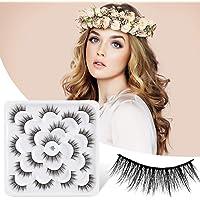 False Eyelashes 15mm,Fake Eye Lashes 3D Fluffy Nature Eyelashes Handmade Thick Reusable Wispies Natural Strip Lashes 10…