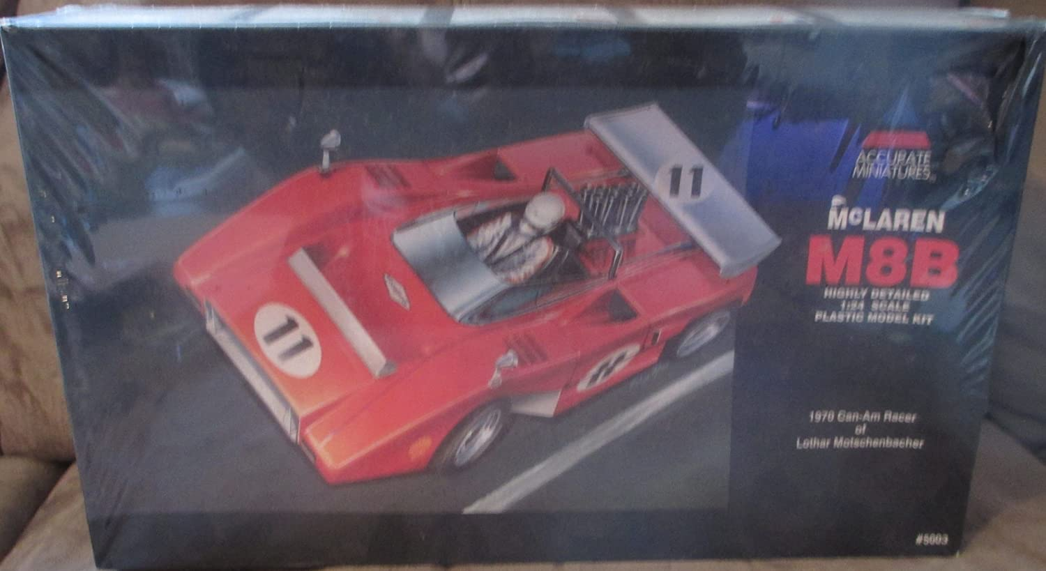 #5003 Accurate Miniatures McLaren M8B 1970 Can-Am Racer of Lother Motschenbacher 1/24 Scale Plastic Model Car Kit,Needs B00C811ALC