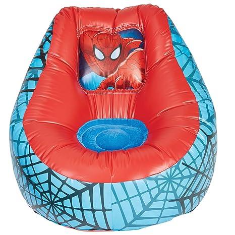 ReadyRoom Spider-Man Sillón Hinchable Infantil, Rojo, 78x78x60 cm
