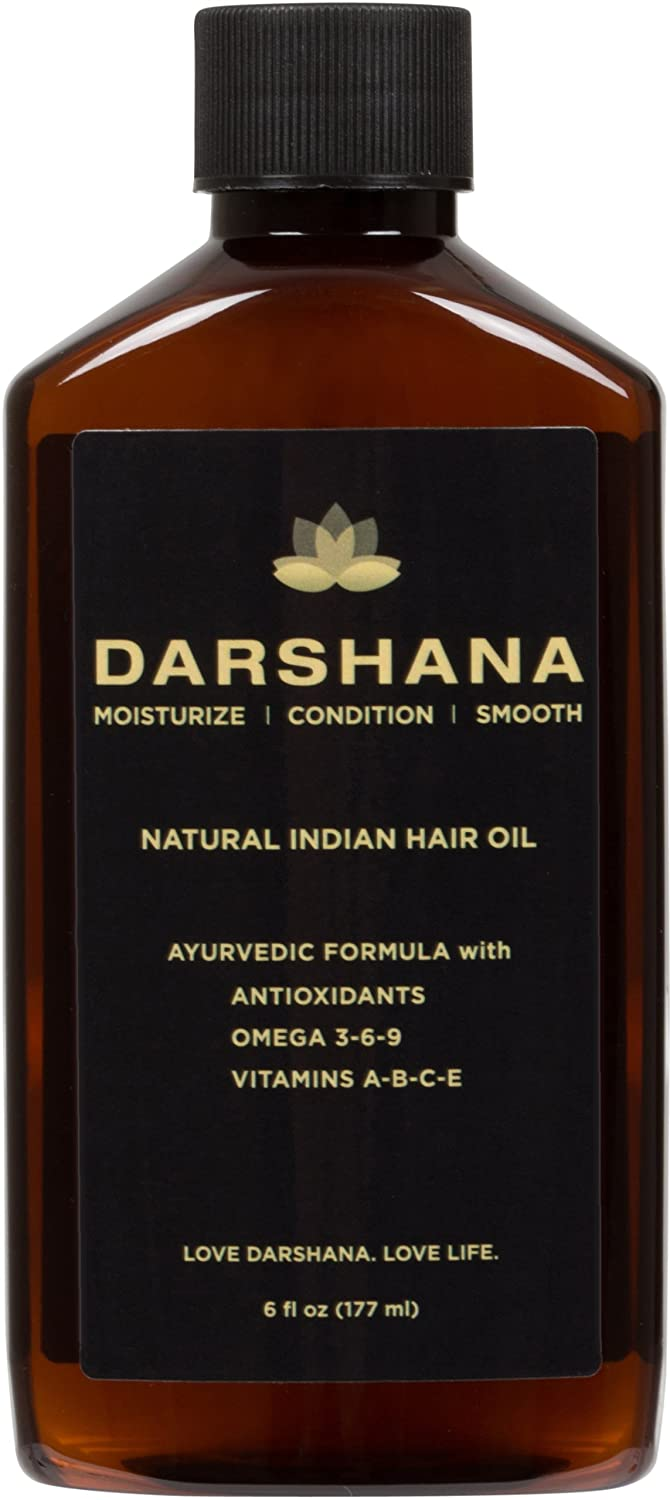 Darshana Natural Indian Hair Oil with Ayurvedic Botanicals (6 fl oz.)