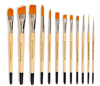 Amazon.com: Synthetic Paintbrush Set: Nylon Brushes for Acrylic ...