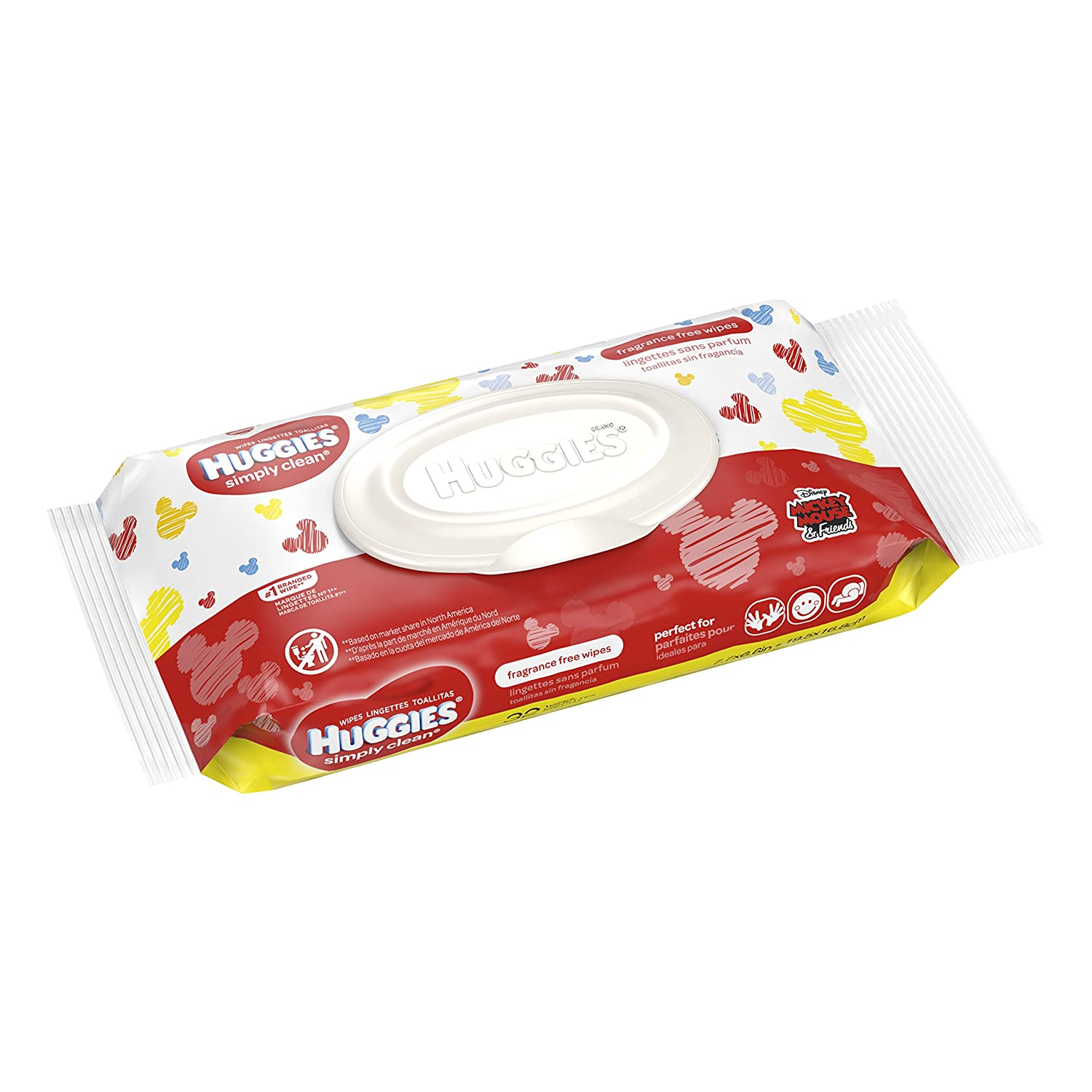 Amazon.com: (3) Huggies Simply Clean Fragrance Free 32ct Baby Wipes in Mickey Mouse Packaging: Health & Personal Care