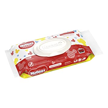 (3) Huggies Simply Clean Fragrance Free 32ct Baby Wipes in Mickey Mouse Packaging