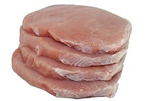 Thinly Sliced Center Cut Pork Loin, Boneless, 1 lb