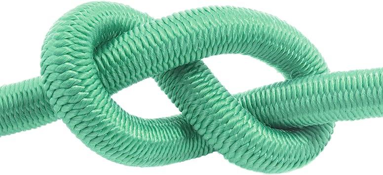DQPP 15m cuerda el/ástica goma 4mm verde atar