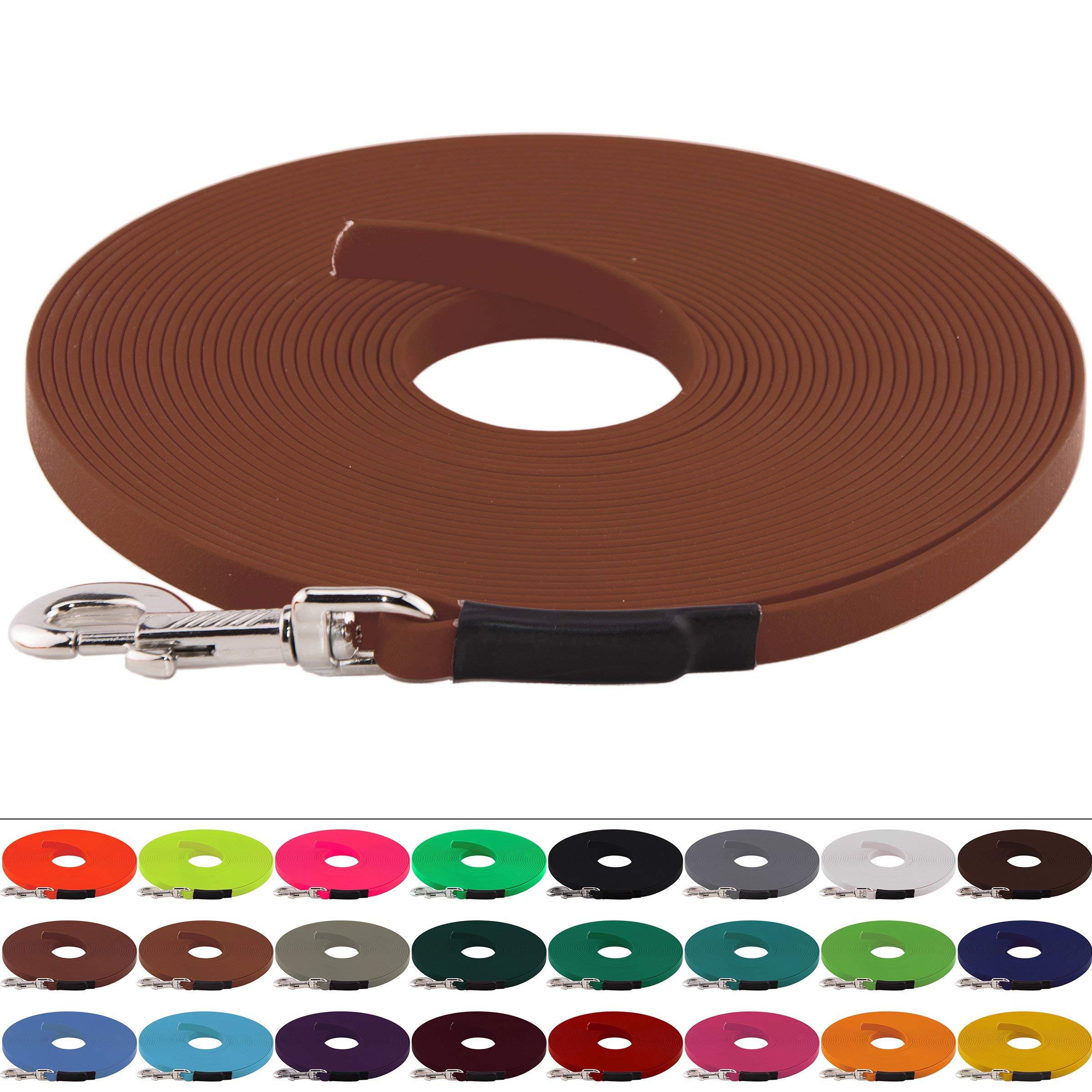 BioThane Schleppleine für Hunde 5-15kg, 9 mm breit, ohne Handschlaufe, bis zu 30 Meter Länge, genäht, in vielen Farben product image