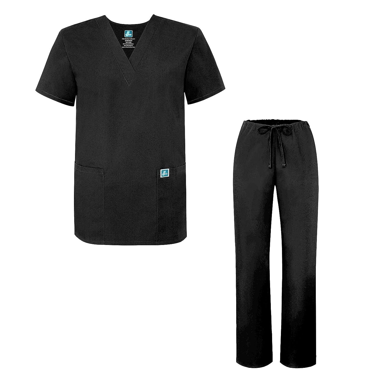 Adar Unisex-Schrubb-Set - Medizinische Uniform mit Oberteil und Hose B00GHUHGEK Medizin Neuer Stil