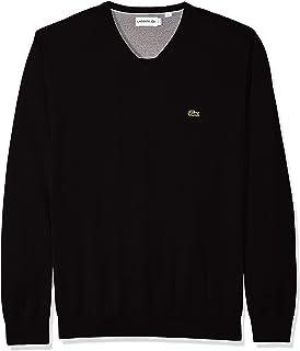386d60f33ab Lacoste Men's Cotton Jersey Crew Neck Sweater, AH7901-51 at Amazon ...
