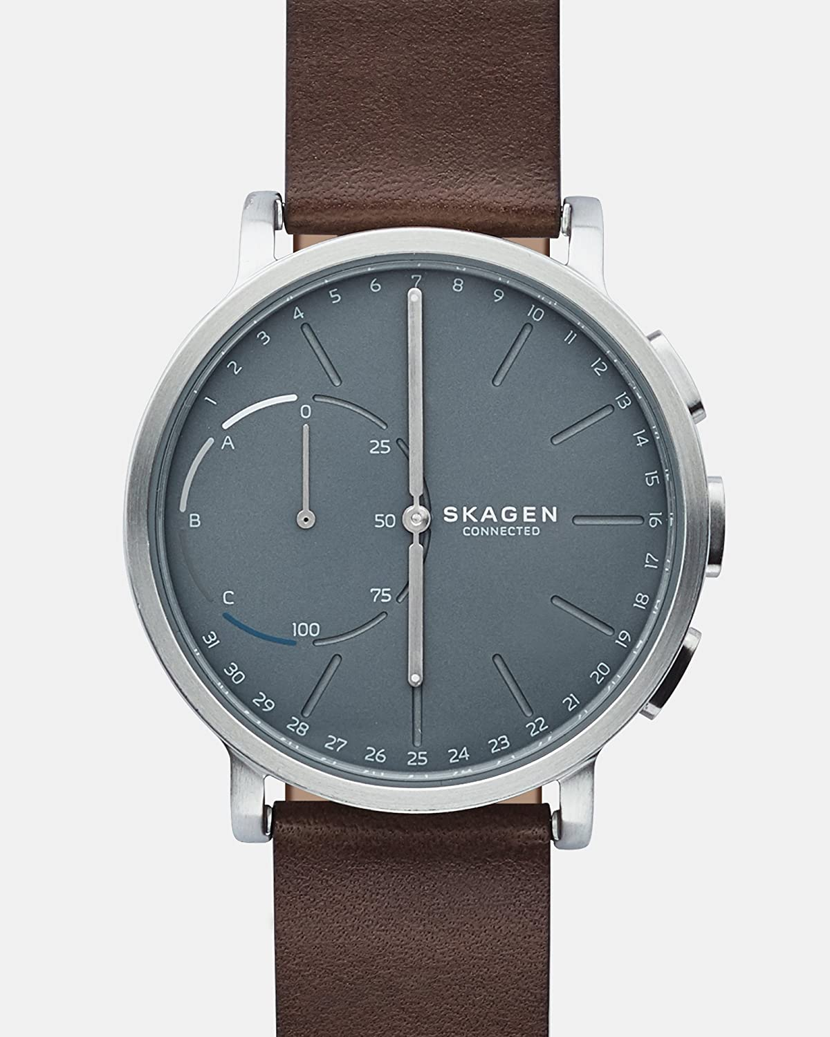 Skagen Mens 42mm Connected Hybrid Leather Smart Watch