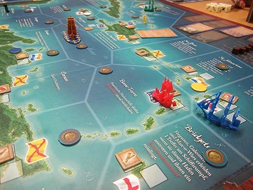 Pegasus 51920G - Juego de Mesa Corsarios del Caribe (edición Alemana): Amazon.es: Juguetes y juegos