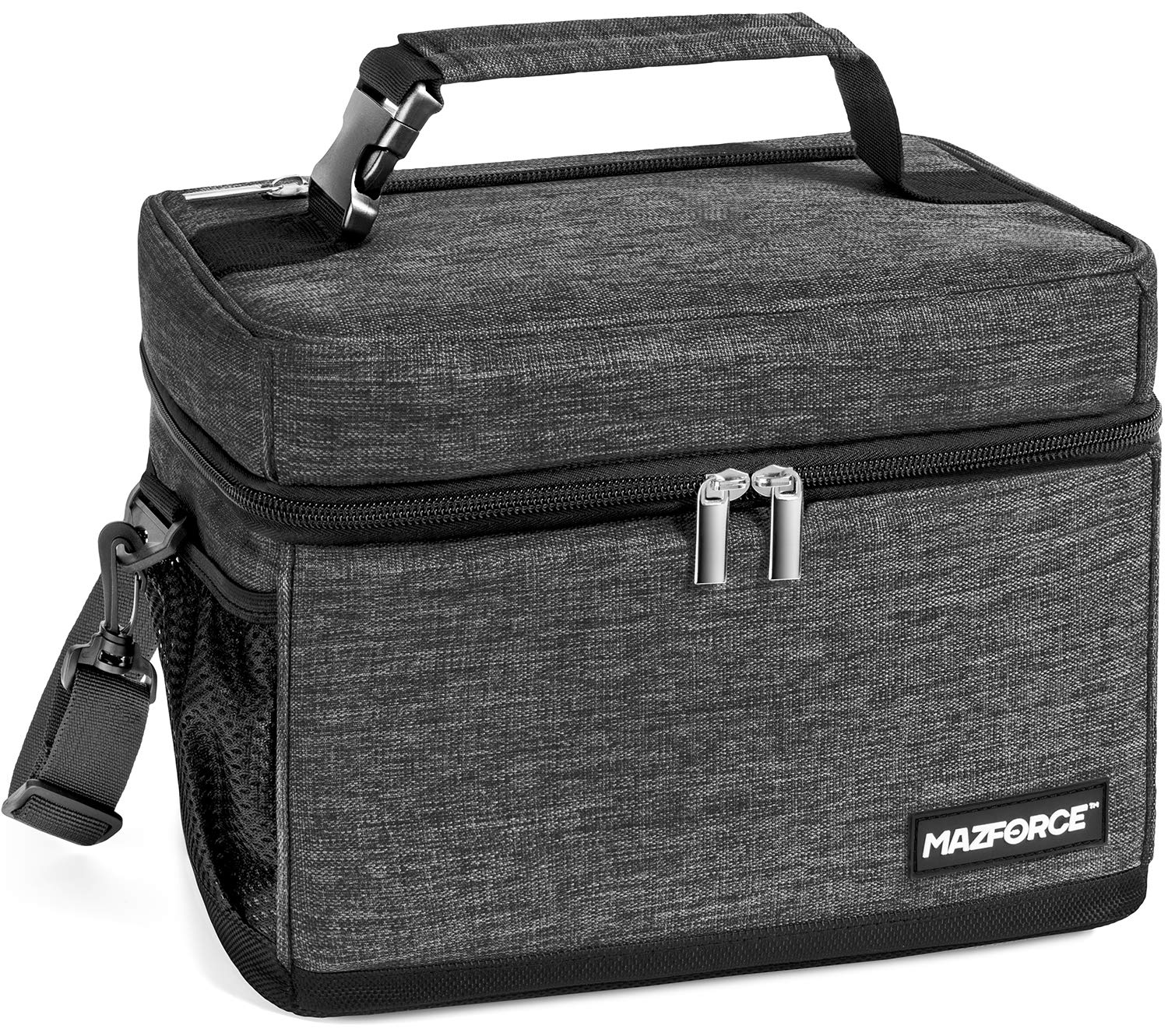 MAZFORCE LongHaul Lunch Bag Insulated Lunch Box - Spacious Pro Performance Adult Lunchbox Built to Withstand your Daily Grind (Lunch Bags Designed in California for Men, Adults, Women - Iron Grey) by MAZFORCE