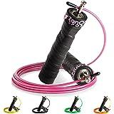 ZenRope - Speed Rope Springseil Sport mit Profi-Kugellager I Gratis E-Book, Extra-Stahlseil, Tasche + Einstiegsguide I Seilspringen für Erwachsene I Crossfit, Boxen, Sport und Training