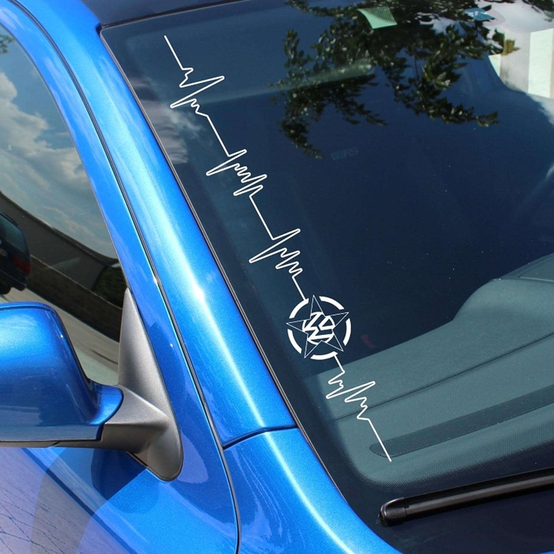 Finest Folia DMC-FS30Parabrisas Decorativo para Corazón Impacto Volkswagen Estrella Finest-Folia GmbH