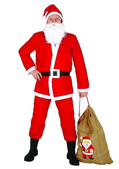 Immagini Babbo Natale Con Sacco.Ciao 25010 Babbo Natale Con Sacco In Juta Rosso Bianco Taglia Unica