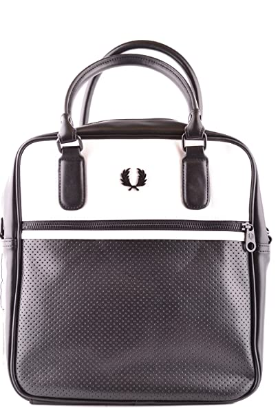 Fred Perry Borsa Da Lavoro Uomo MCBI128202O Pelle Nero  Amazon.it ... b0dfeec3a74