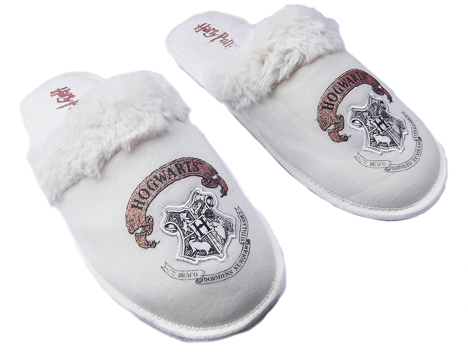 Ladies Girls Harry Potter Slippers Waiting for my Hogwarts Letter Oatmeal  (Size UK 5-6 EU 38-39, Oatmeal/Harry Potter): Amazon.co.uk: Clothing