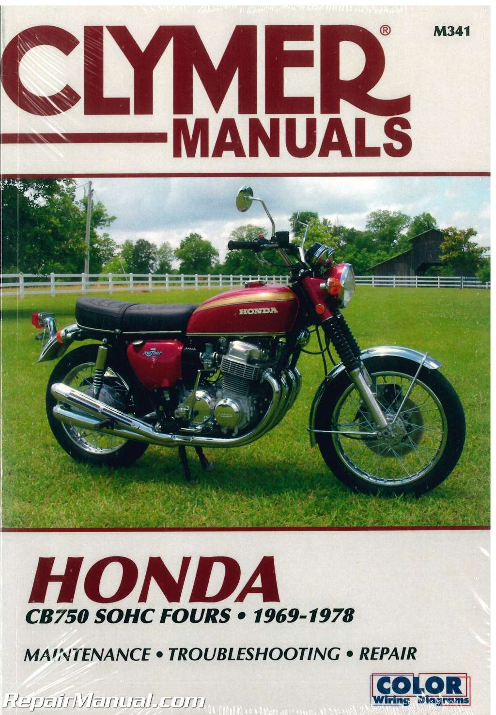 M341 1969-1978 Honda CB750 SOHC Fours Motorcycle Repair Manual ... on honda 300 wiring diagram, honda cbr wiring diagram, honda 350 wiring diagram, 1984 honda wiring diagram, honda vtx wiring diagram, honda 250 wiring diagram, honda recon wiring diagram,