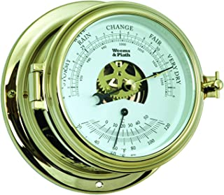 Weems and Plath Endurance II 115barometro/termometro in ottone