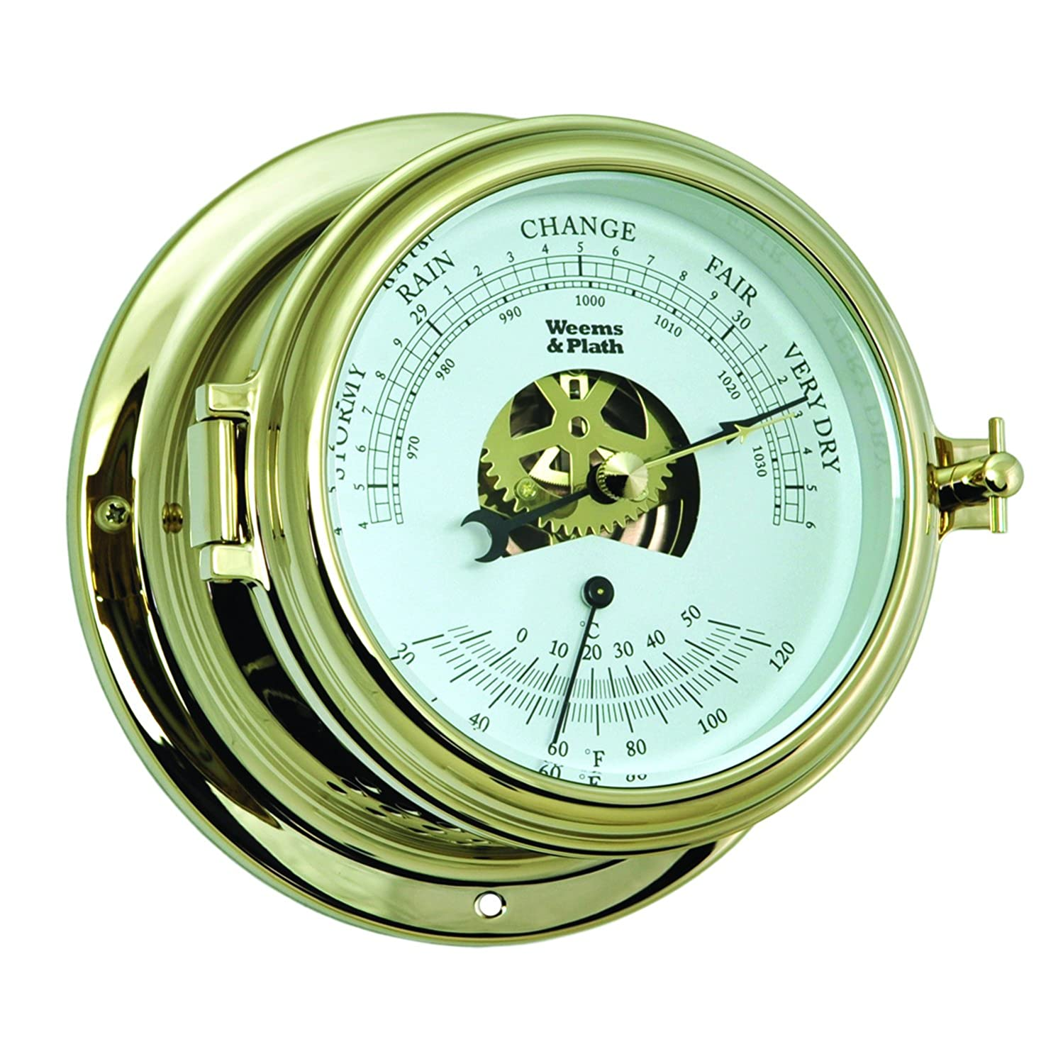 Weems and Plath Endurance II 115 Barometer/Thermometer Brass 511000