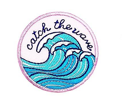 Little Bear Shop Cartoon Patches Beach Ocean Wave Surfing Tide Craft