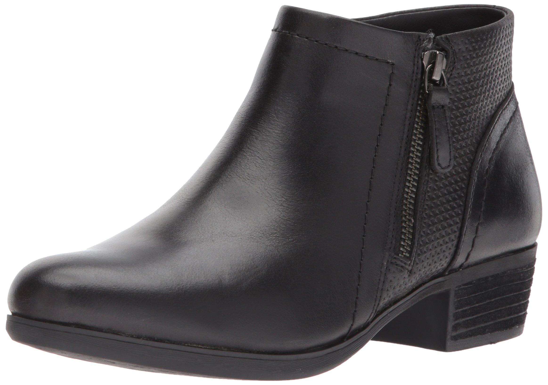 Cobb Hill Women's Oliana Panel Ankle Boot, Black Pull up Lthr, 10 M US