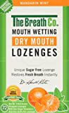 The Breath Co Fresh Breath Dry Mouth Lozenges - Mandarin Mint, 72 Pieces
