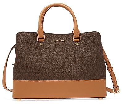 5d28b0e0211e ... discount code for michael kors savannah large satchel brown 2beb6 fd282