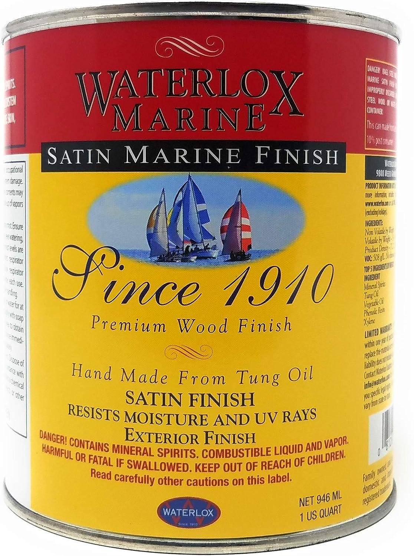 Waterlox TB6032 QT Satin Marine Finish, Clear