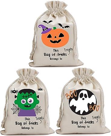 Amazon.com: Bolsas para Halloween Truco o trato de paquete ...
