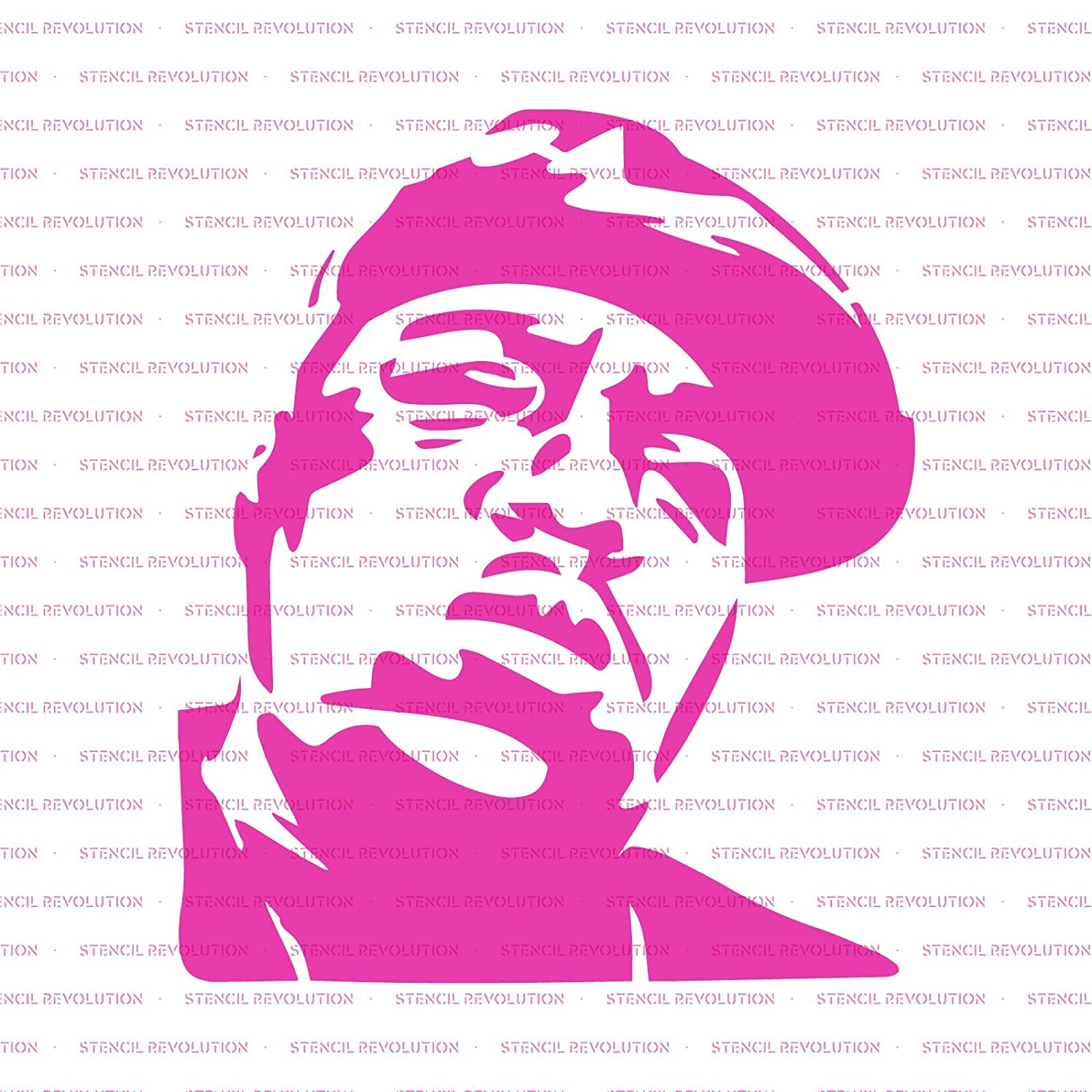Amazon com notorious big stencil template reusable stencil with multiple sizes available