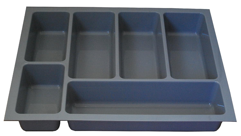 Alta calidad bandeja de cajón para cubiertos para adaptarse a la mayoría de 45 cm/450 mm cajones. Heavy Duty Gris Plástico 364 mm de ancho x 422 mm de ...
