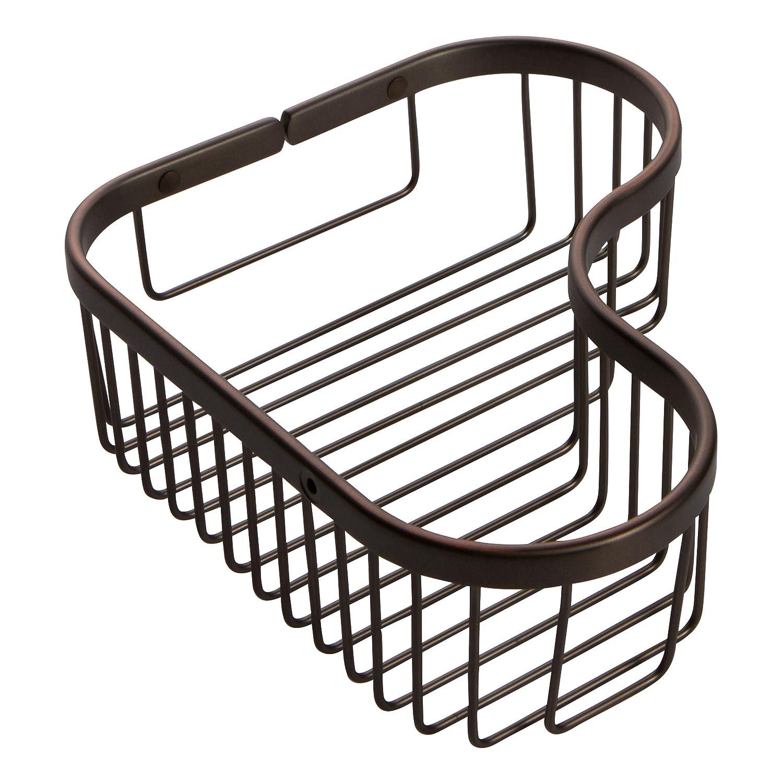 Large Corner Basket Oil-Rubbed Bronze Ginger 505L PC Splashables Large Wall Mounted Corner Shower Basket, Polished Chrome