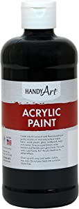 Handy Art Student Acrylic Paint 16 ounce, Mars Black
