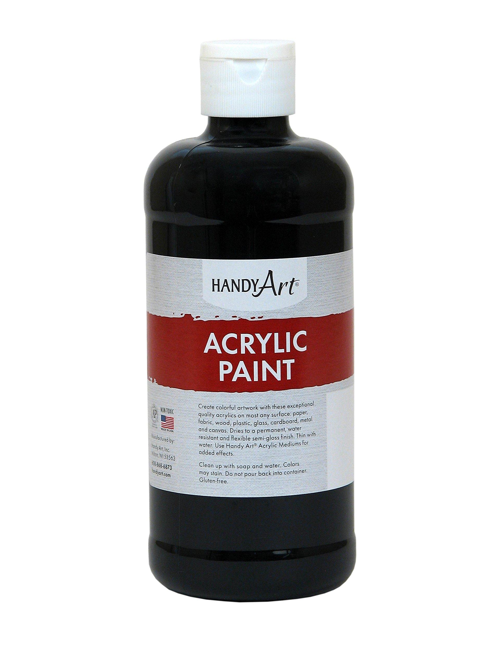Handy Art Student Acrylic Paint 16 ounce, Mars Black