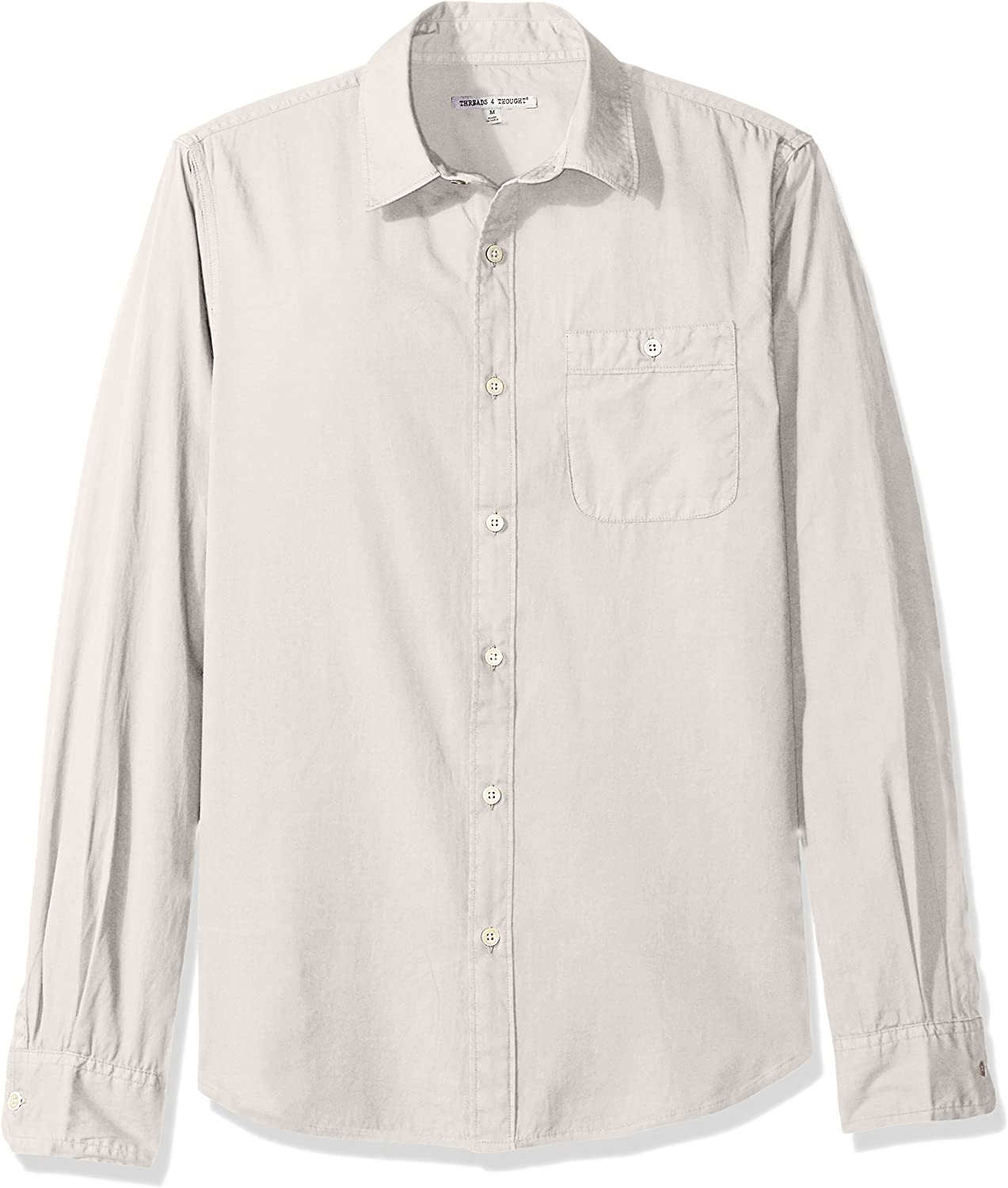 Threads 4 Thought Mens Standard Sustainable Organic Cotton Long Sleeve Shirt
