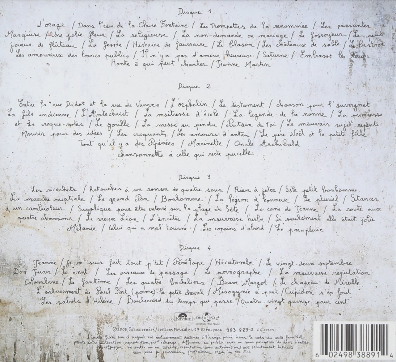 Amazoncom Le Forestier Chante Brassens 1er Cahier Music