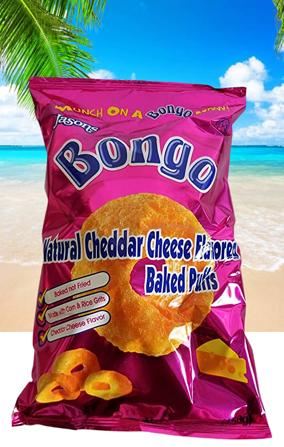 Fiji Jasons - Bongo Cheese Flavor (156g / 5.5 Oz) Real Unique Cheese Flavor, Munch ON Now.