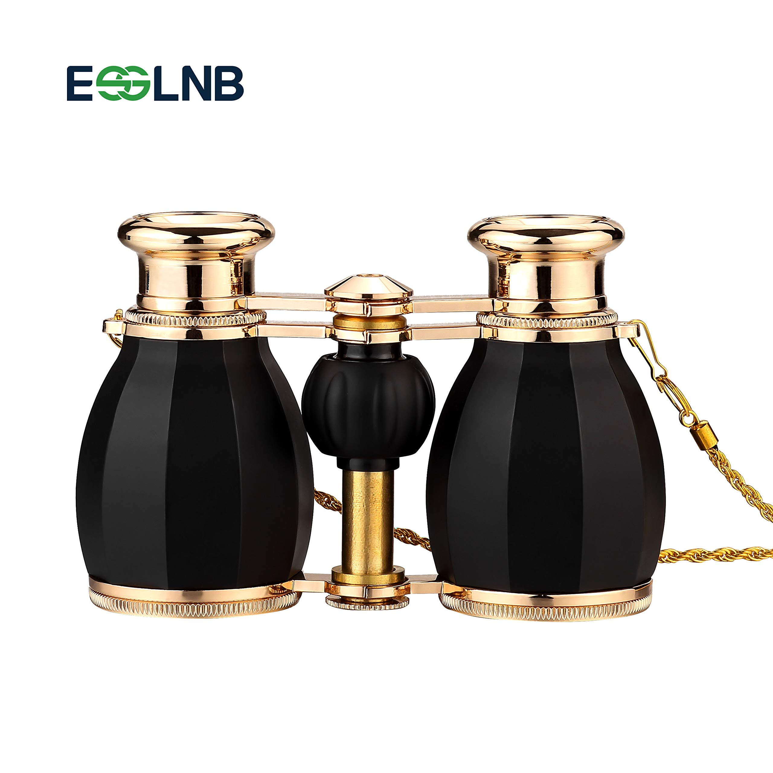 ESSLNB Opera Glasses Binoculars for Women Adults 4X30mm Theater Glasses Compact Binoculars for Theater and Concerts Antique Binoculars with Case Removable Chain Black by ESSLNB