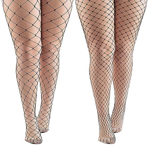 1279e5d2012 Aneco 4 Pairs Black Fishnets Tights Sexy Fishnet Pantyhose Stockings Fishnet  Cross Mesh Stockings for Women