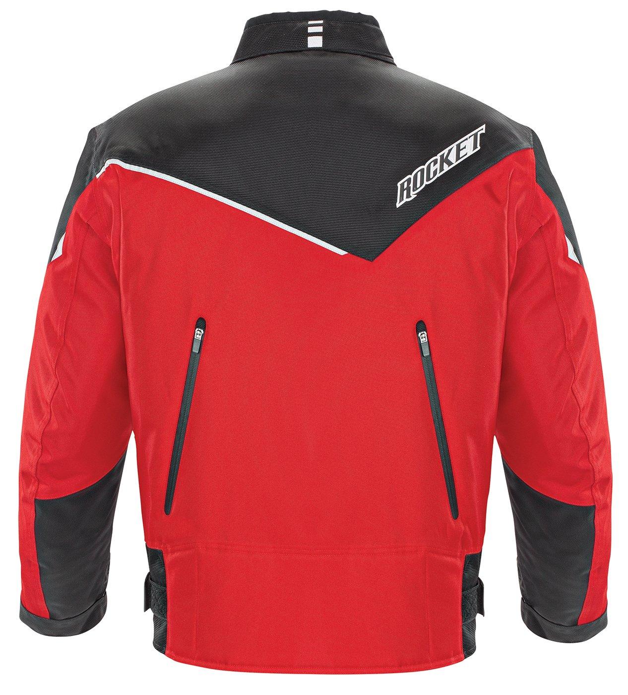 Joe Rocket Mens Motorcycle Jacket Black Tall XX Large